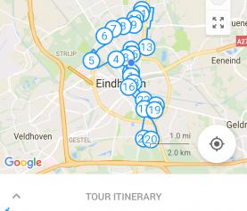Lichtjesroute fietsen met izi.TRAVEL app