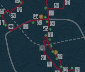 Routekaartje Lichtjesroute 2020